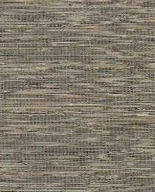 Bild: Eijffinger Tapete Natural Wallcoverings ll 389535 - Grasgewebe (Senf/Schwarz)