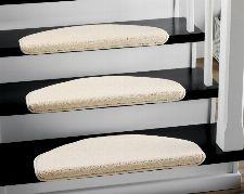 Bild: Stufenmatten - 3er Set - Casa 3937 (Weiß; halbrund)