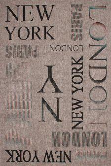 Bild: Flachgewebe Teppiche Täby - City - (Silber; 160 x 230 cm)