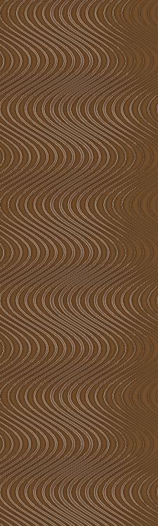 Bild: Colani Legend Digitaldruck Panel - Wellen (Braun)