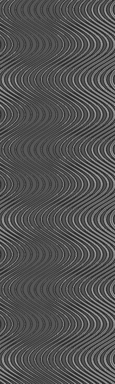 Bild: Colani Legend Digitaldruck Panel - Wellen (Aluminiumgrau)