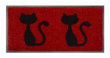 Bild: Schmutzfangmatte Katzen (Rot)
