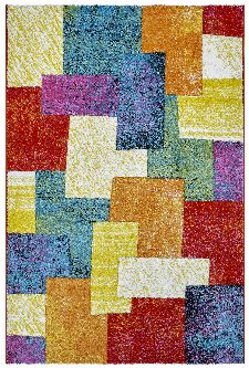 Bild: Moderner Teppich - Cube Mixes (Multi; 200 x 290 cm)