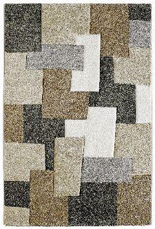 Bild: Moderner Teppich - Cube Mixes (Taupe; 60 x 110 cm)