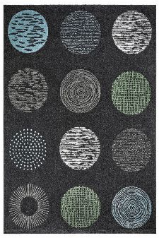 Bild: Moderner Teppich - Circles (Anthrazit; 160 x 230 cm)