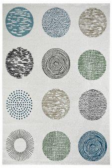 Bild: Moderner Teppich - Circles (Creme; 80 x 150 cm)