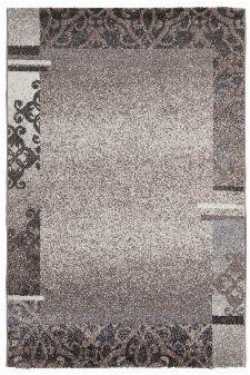 Bild: Kurzflorteppich Ornaments mit Bordüre (Taupe; 60 x 110 cm)