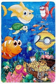 Bild: Fische Kinderteppich (Under the Sea; 100 x 150 cm)