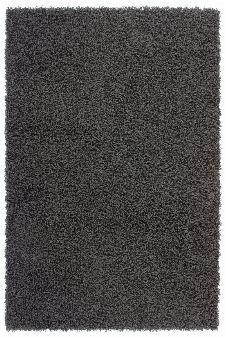 Bild: Günstiger Hochflorteppich - Funky (Anthrazit; 80 x 150 cm)