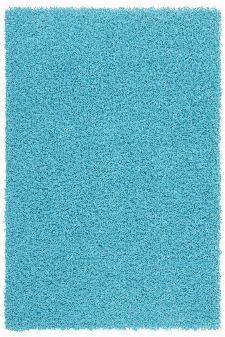 Bild: Günstiger Hochflorteppich - Funky (Aqua; 60 x 110 cm)