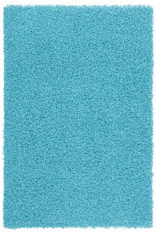 Bild: Günstiger Hochflorteppich - Funky (Aqua; 120 x 170 cm)
