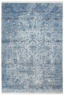 Bild: Fransenteppich im Used Look - Pure (Blau; 120 x 170 cm)