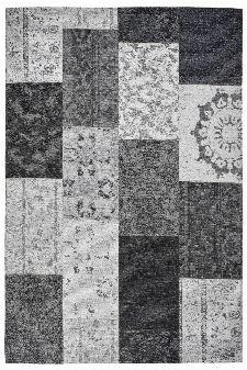 Bild: Jaquard Flachgewebe Teppich - Patchwork (Grau; 120 x 170 cm)