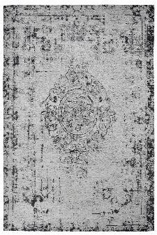 Bild: Jaquard Flachgewebe Teppich - Vintage Ornament (Grau; 57 x 110 cm)