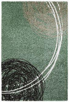 Bild: Moderner Teppich - Fantasy Lines (Jade; 120 x 170 cm)
