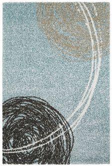 Bild: Moderner Teppich - Fantasy Lines (Ocean; 80 x 150 cm)