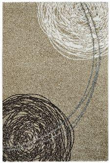 Bild: Moderner Teppich - Fantasy Lines (Sand; 120 x 170 cm)