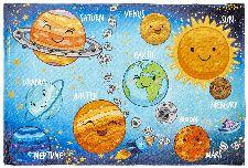 Bild: Kinder Spielteppich - Weltraum (120 x 170 cm)