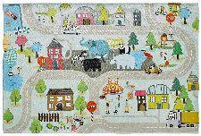 Bild: Kinder Straßenteppich - Spielteppich Straße (80 x 120 cm)