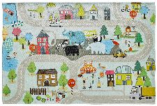 Bild: Kinder Straßenteppich - Spielteppich Straße (160 x 230 cm)