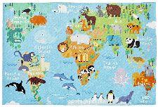 Bild: Kinder Spielteppich -Weltkarte (120 x 170 cm)