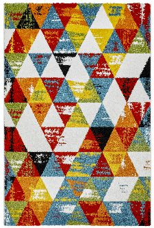 Bild: Kurzflor Teppich - Ethno Style (120 x 170 cm)