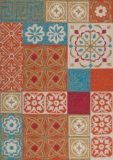 Bild: Outdoor Teppich Namada (Blau/Orange/Rot/Grün; 200 x 290 cm)
