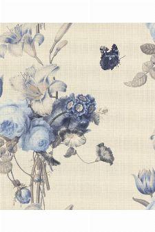 Bild: Barbara Schöneberger Tapete Gallery 527643 - by Rasch (Meeresblau)