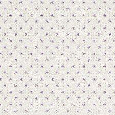 Bild: Rasch Textil Tapete 288949 Petite Fleur 4 - Punkte und Blüten (Weiß/Lila)