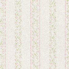 Bild: Rasch Textil Tapete 289090 Petite Fleur 4 - Blumen Streifen (Weiß/Rosa)