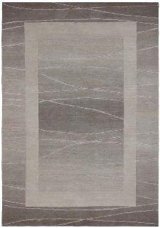 Bild: Original Nepal Bordürenteppich Linea (Sand; 90 x 160 cm)