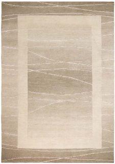Bild: Original Nepal Bordürenteppich Linea (Beige; 120 x 180 cm)