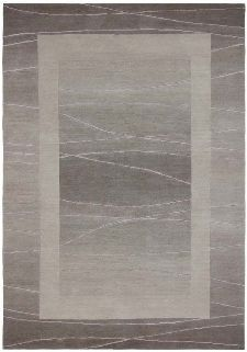 Bild: Original Nepal Bordürenteppich Linea (Sand; 140 x 200 cm)