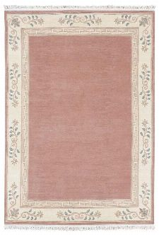 Bild: Original Nepal Bordürenteppich Classica (Altrose; 90 x 160 cm)