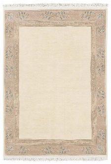 Bild: Original Nepal Bordürenteppich Classica (Creme; 90 x 160 cm)