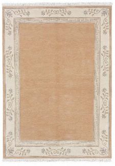 Bild: Original Nepal Bordürenteppich Classica (Apricot; 120 x 180 cm)