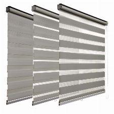 Bild: Duo Doppelrollo (Grau; 180 x 120 cm)