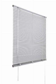Bild: Aluminium Jalousie (Silber; 175 x 120 cm)