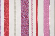 Bild: GIRLS ONLY Tapete GLN62055088 - Patchwork Streifen (Rosa)