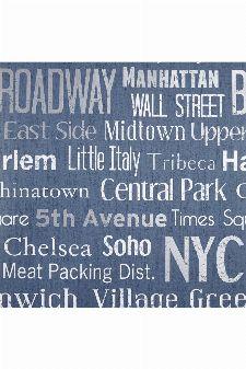 Bild: LIFE - LIF64426078 Tapete: Manhattan (Blau)