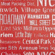 Bild: LIFE - LIF64428226 Tapete: Manhattan (Rot)