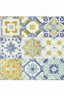 Bild: Caselio Tapete Fliesen MATERIAL CARREAUX  MATE69622060 (Blau)