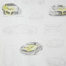 Bild: ONLY BOYS - Tapete OLB64737000: Concept Car (Gelb)