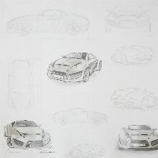 Bild: ONLY BOYS - Tapete OLB64739090: Concept Car (Grau)