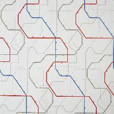 Bild: ONLY BOYS - Tapete OLB64798092: Underground (Rot)