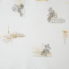 Bild: ONLY BOYS - Tapete OLB64813002: Motorcross (Orange)