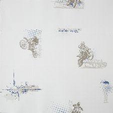 Bild: ONLY BOYS - Tapete OLB64816059: Motorcross (Blau)