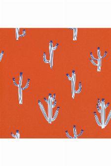Bild: Caselio - Motivtapete Kaktus - SMILE FREE HUGS SMIL69753709 (Orangegelb)