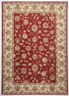 Bild: Bordürenteppich Royal Ziegler 503 (Cream Rot; 60 x 90 cm)