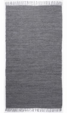 Bild: Webteppich Happy Cotton Uni (Anthrazit; 230 x 160 cm)